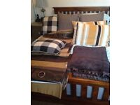 JOB LOT PAIR OF CURTAINS, THROW AND 6 CUSHIONS £30