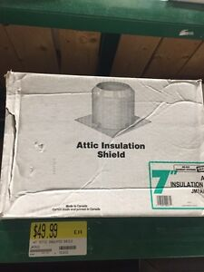 Attic insulation shield and a 12inch length