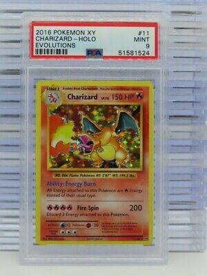 2016 Pokemon XY Evolutions Charizard Holo #11 PSA 9 MINT (24) N60
