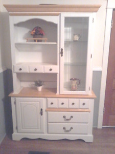 painted dresser/ display cabinet