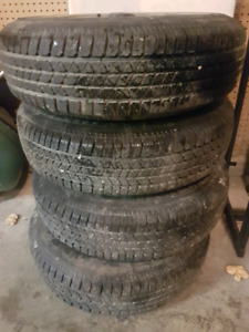 All season tires with rims for sell!