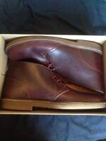 Burgundy desert boots sz11