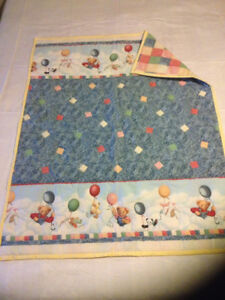 Baby Quilt Blue Jeans Teddy Bear