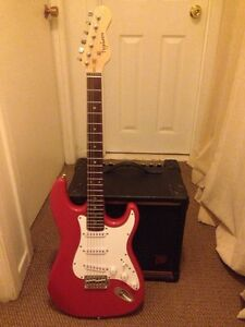 Guitar and Amp. Great for beginners!