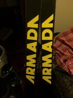 185cm Armada JJ, 28.5 FT Konflicts, skis, boots