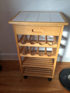 Small table/wine rack.