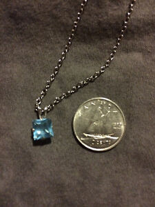 Sterling Siver Aquamarine necklace