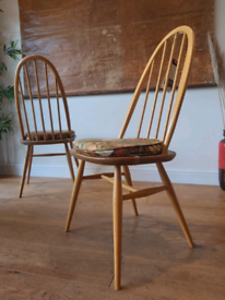 Vintage 1960's pair of ercol chairs
