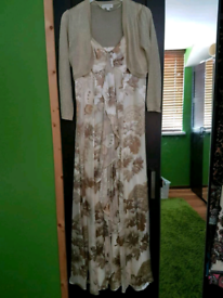Monsoon Silk & Viscose Maxi Dress | Size 10
