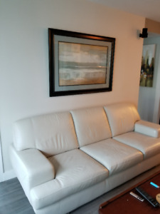 White/Cream Leather couch