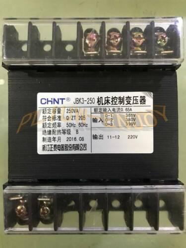 ONE NEW CHNT JBK3-250VA Machine Tool Control Transformer 361V380V399V to 220V