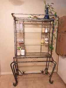 Bakers Rack - glass and metal