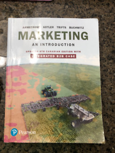 MARKETING AN INTRODUCTION - 6TH CANADIAN EDITION