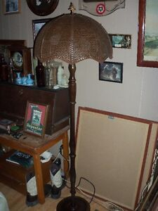 ANTIQUE BAMBOO/RATTAN SHADE FLOOR LAMP