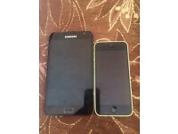 Samsung note 1 and iPhone 5c £35 must go