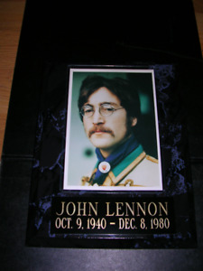 "Beatles. John Lennon 7"" x 9"" plaque"
