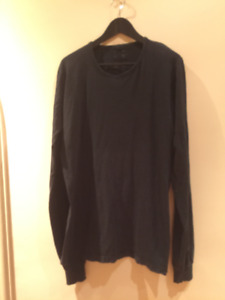 Rick Owens long sleeve washed out black BRAND NEW -L-