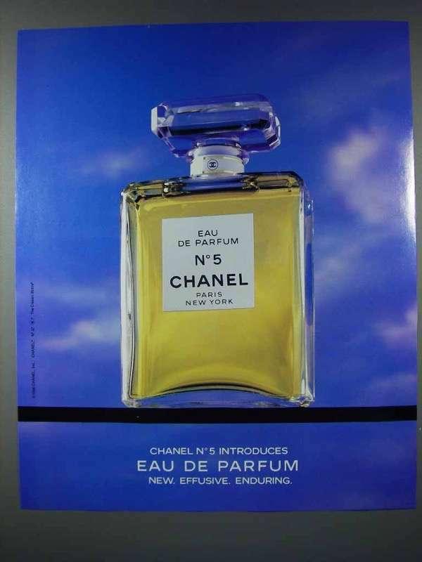 1986 Chanel No 5 Perfume Ad - Eau de Parfum