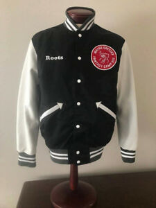 ROOTS Wayne Gretzky 99 Fanstasy Camp X111 Varsity Jacket w/Leath