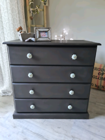 Graphite painted chest of drawers