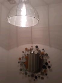 Beautiful Mirror and Silver Shade