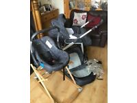 FANTASTIC SILVER CROSS 3 IN 1 COMP,ETE TRAVEL SYSTEM