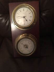 Barometer and clock