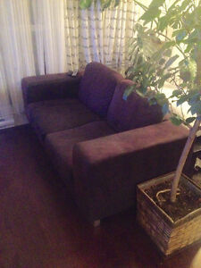 DIVAN - SOFA  - IKEA - 2 places - 100$ (dark brown/black)