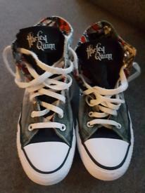 Shoes Hi High Converse All Star Harley Quinn Size 5
