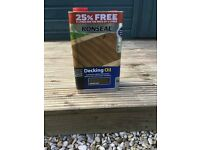 Decking oil leftovers of 5L can