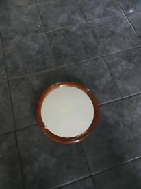 Vintage round mirror *tiger*
