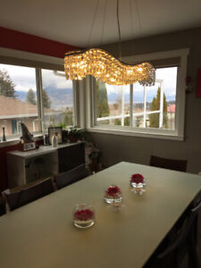 Stylish dining room lighting