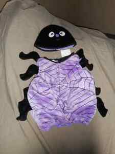 little black n purple spider custume for 12 month or 1 year old