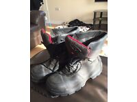 Uvex steel toe cap safety boots