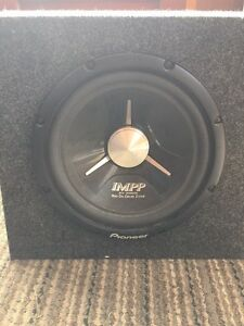 "12"" IMPP SUBWOOFER with finished box"