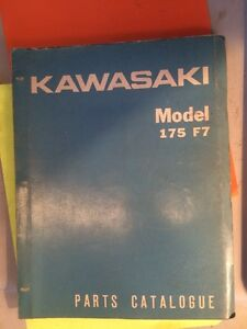 71 72 73 Kawasaki 175 F7 F7A F7B Parts Catalogue