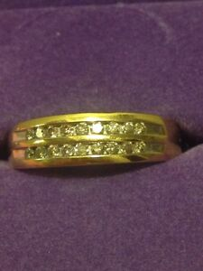 Women's gold ring with diamonds *REDUCED!!*