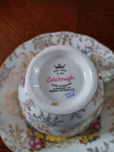 19 peice Colcough  Crinoline Lady -Bone China tea set
