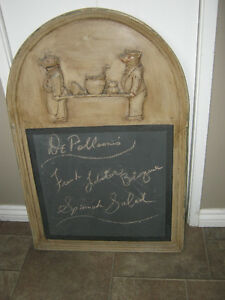One-of-a-kind chalkboard menu sign - $40
