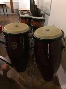 Conga Drums with stand. Priced to Sell Quick!!