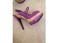 Heels wedges size 5