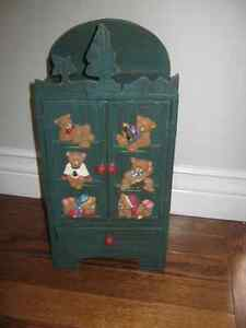 Russ cabinet with bears on front