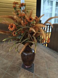 Arrangement floral superbe!!! Comme NEUF!!!  WOW!! DEAL!!!