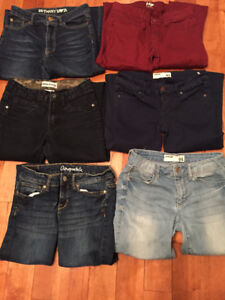6 pairs of jeans/jeggings
