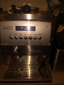 Gaggia titanium plus coffee machine
