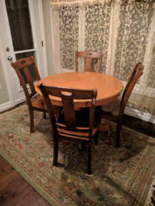 Breakfast table with four chairs set