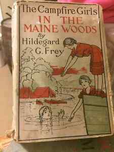 Antique book 1916 The Campfire Girls in the Maine Woods
