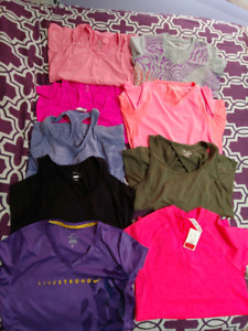 9 ladies workout tops size M
