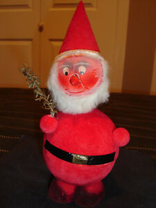 Vintage Paper Mache West German Santa Claus Candy Container