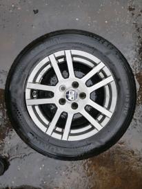 4 Mzw OZ alloy wheels rim with tyre grey vw golf mk4 passat